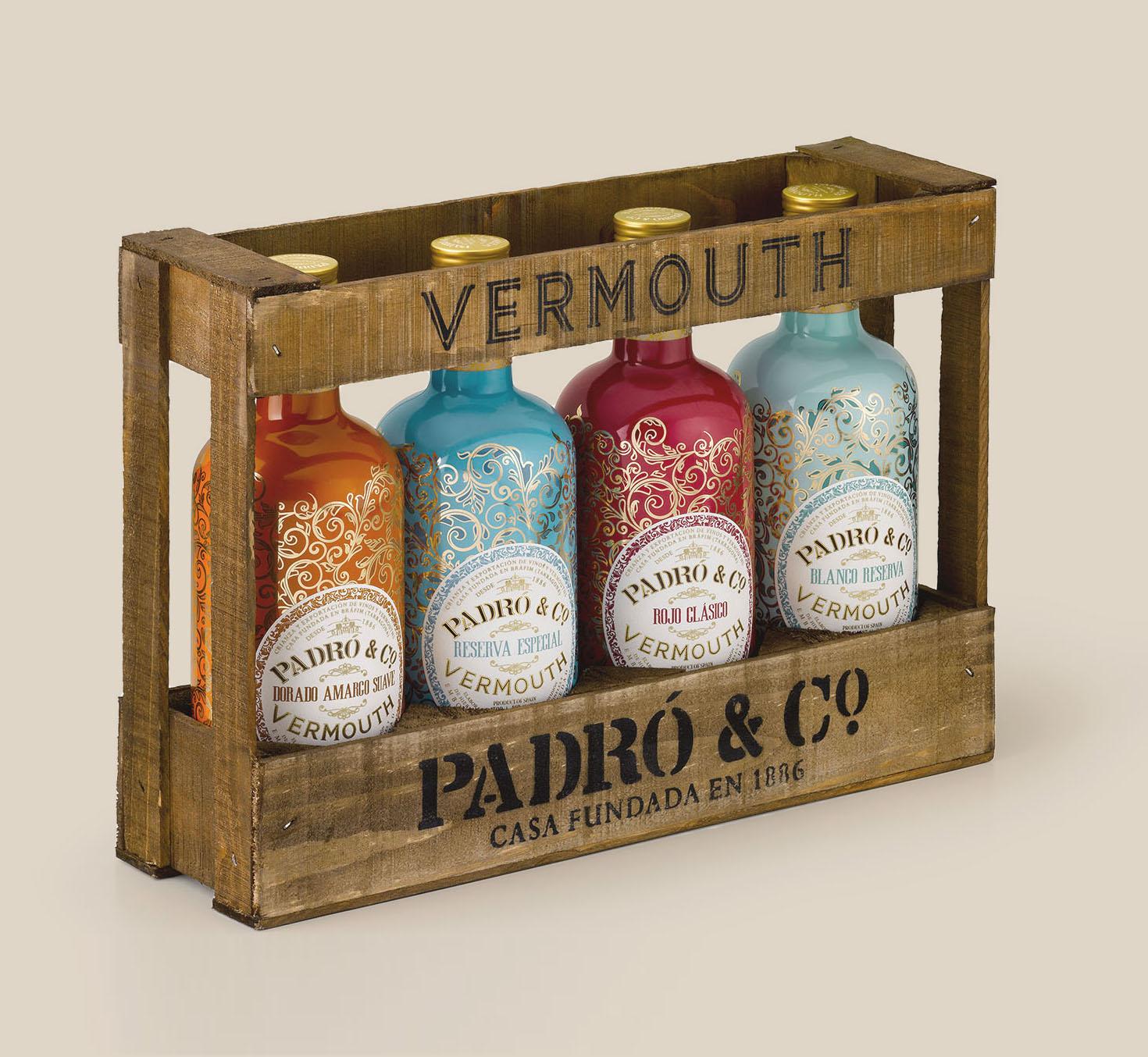 Caja de madera Padró & Co.